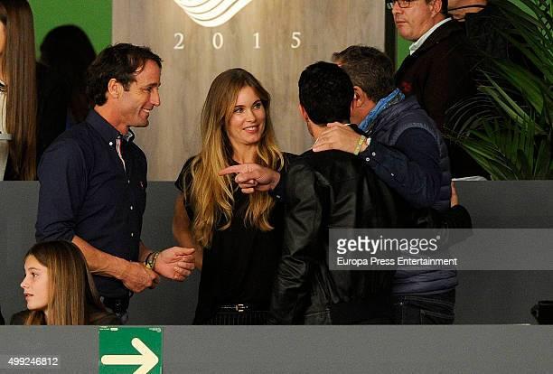 Alvaro Munoz Escassi Helen Svedin and Luis Figo are is seen at Madrid Horse Week on November 28 2015 in Madrid Spain