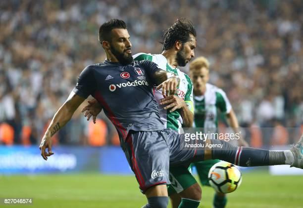 Alvaro Negredo of Besiktas in action during the Turkcell Super Cup match between Besiktas and Atiker Konyaspor at Samsun New 19 Mays Stadium in...