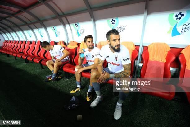 Alvaro Negredo of Besiktas sits on the bench during the Turkcell Super Cup match between Besiktas and Atiker Konyaspor at Samsun New 19 Mays Stadium...