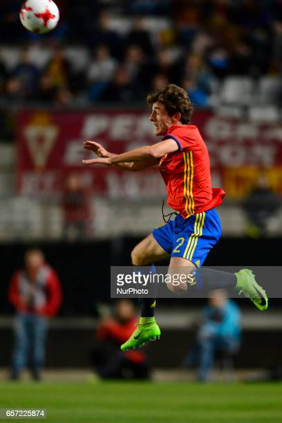 Alvaro Odriozola during the friendly match of national teams U21 of Spain vs Denmark in stadium Nueva Condomina Murcia SPAIN March 23rd 2017