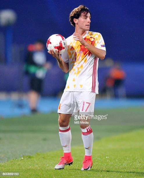 Alvaro Odriozola during the UEFA European Under21 match between Serbia and Spain at Arena Bydgoszcz on June 23 2017 in Bydgoszcz Poland