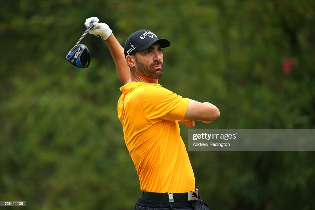 Alvaro Quiros of Spain hits his tee shot on the 11th during the first round of the Trophee Hassan II at Royal Golf Dar Es Salam on May 5, 2016 in Rabat, Morocco.