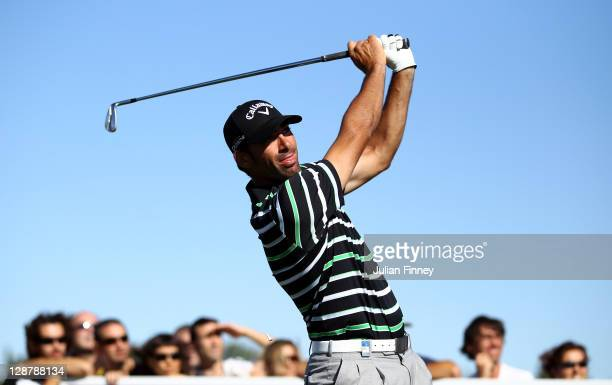Alvaro Quiros of Spain in action during round three of the Madrid Masters Golf at El Encin Golf Hotel on October 8 2011 in Madrid Spain