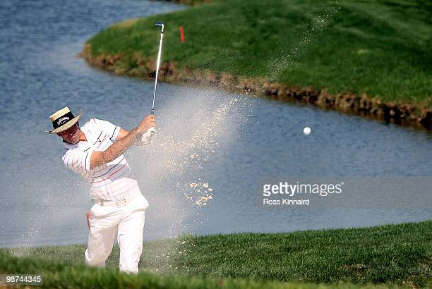 Alvaro Quiros of Spain on the par four 15th hole during the first round of the Open de Espana at the Real Club de Golf de Seville on April 29 2010 in...