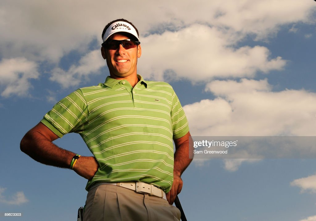 Alvaro Quiros of Spain poses for a portrait prior to the WGC-Bridgestone Invitational on the South Course at Firestone Country Club on August 5, 2009 in Akron, Ohio.
