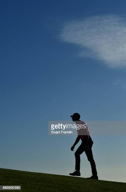 Alvaro Quiros of Spain walks on the 18th hole during the third round of The Rocco Forte Open at The Verdura Golf and Spa Resort on May 20 2017 in...