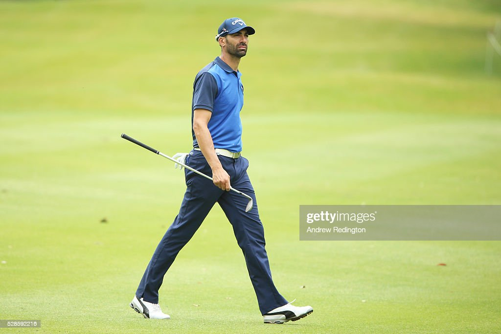 <a gi-track='captionPersonalityLinkClicked' href=/galleries/search?phrase=Alvaro+Quiros&family=editorial&specificpeople=776409 ng-click='$event.stopPropagation()'>Alvaro Quiros</a> of Spain walks up the fairway on the fourth hole during the second round of the Trophee Hassan II at Royal Golf Dar Es Salam on May 6, 2016 in Rabat, Morocco.