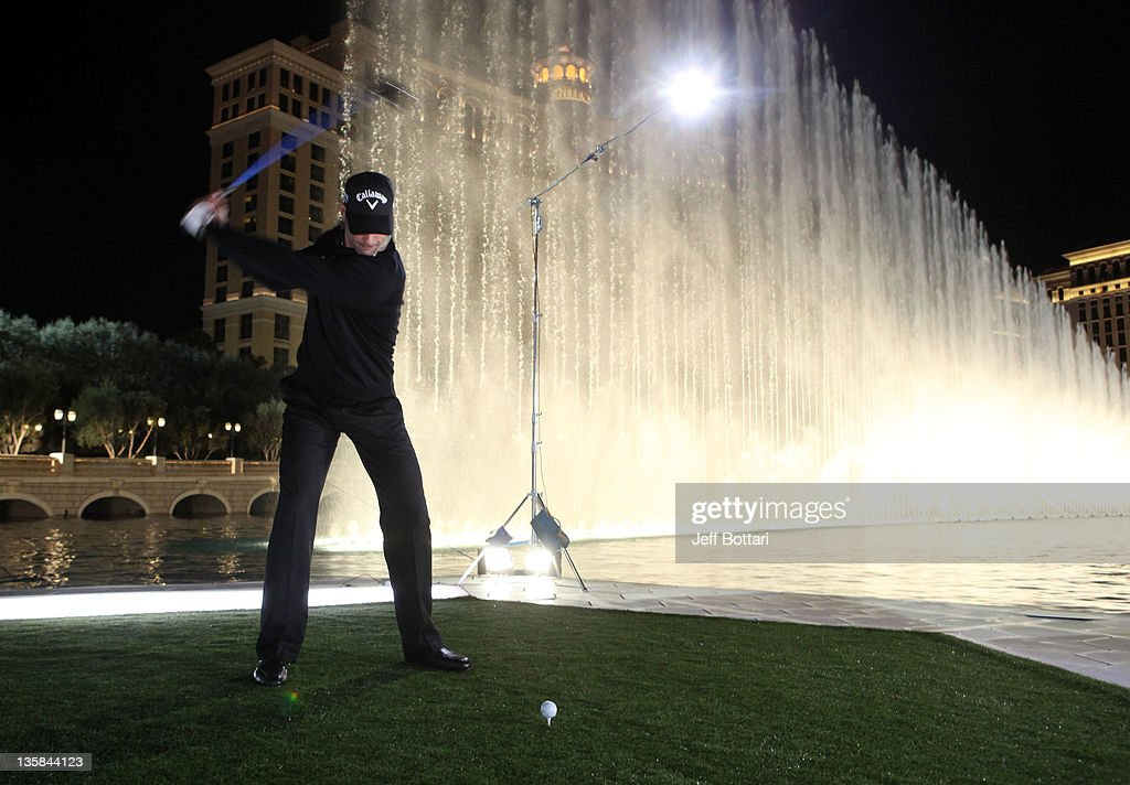 <a gi-track='captionPersonalityLinkClicked' href=/galleries/search?phrase=Alvaro+Quiros&family=editorial&specificpeople=776409 ng-click='$event.stopPropagation()'>Alvaro Quiros</a>, using the recently introduced RAZR Fit Driver, launches a ball across the Bellagio Fountain for Callaway Golf's 2012 Epic Demo creative campaign at the Bellagio on December 14, 2011 in Las Vegas, Nevada.