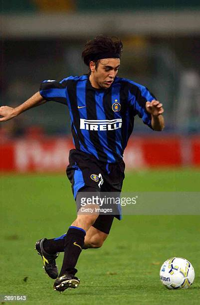 Alvaro Recoba of Inter in action during the Serie A 8th Round League match between Chievo and Inter November 2 2003 at the Bentegodi Stadium in...