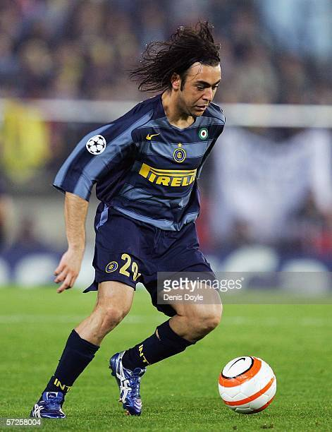 Alvaro Recoba of Inter Milan in action during the UEFA Champions League Quarter Final Second Leg match between Villarreal and Inter Milan at the...
