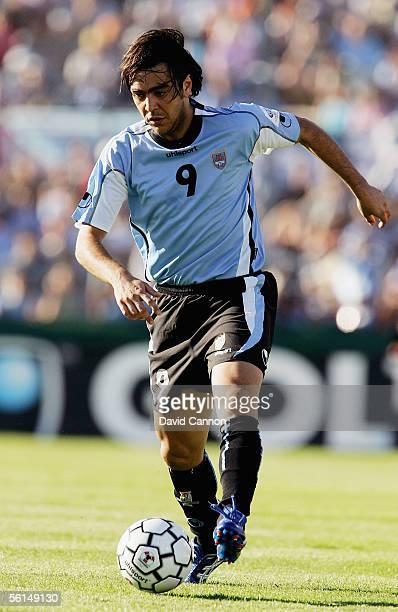 Alvaro Recoba of Uruguay during the FIFA World Cup 1st Leg playoff match between Uruguay and Australia at the Centenario Stadium on November 12 2005...