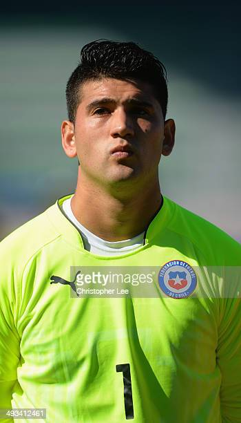 Alvaro Salazar of Chile during the Toulon Tournament Group A match between Portugal and Chile at the Stade Perruc on May 23 2014 in Hyeres France