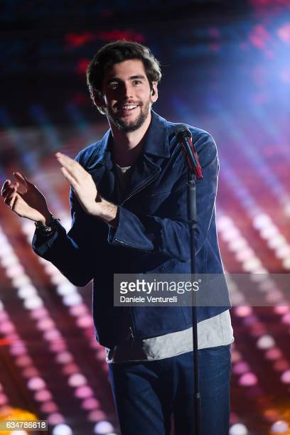 Alvaro Soler attends the closing night of 67th Sanremo Festival 2017 at Teatro Ariston on February 11 2017 in Sanremo Italy