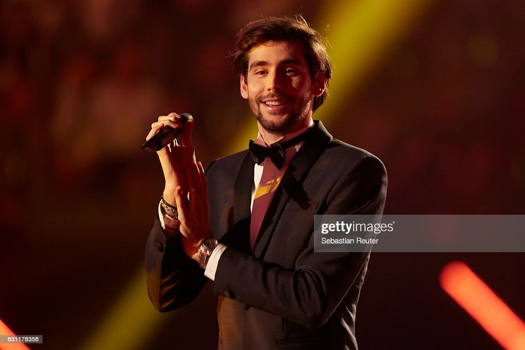 Alvaro Soler is seen on stage at the 'Das grosse Fest der Besten' tv show at Velodrom on January 7, 2017 in Berlin, Germany.