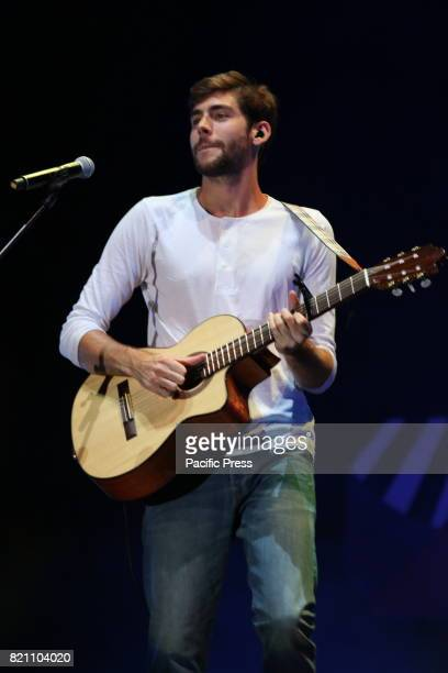 Alvaro Soler performing live on stage for SUMMER TOUR 2017' in Napoli at Arena Flegra