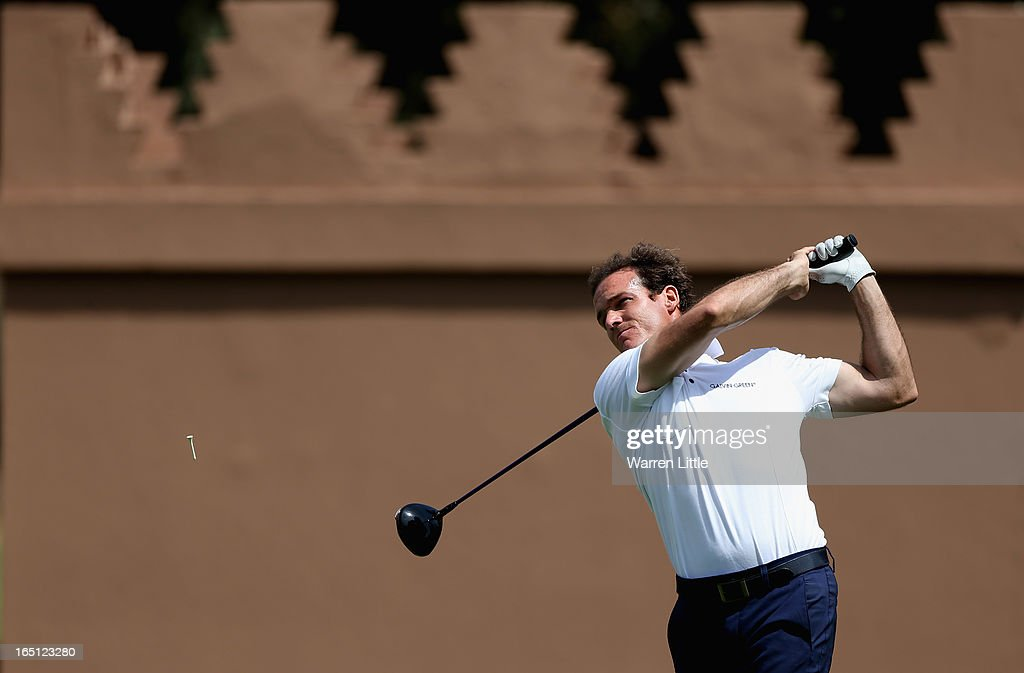 Alvaro Verlasco of Spain in action during the final round of the Trophee du Hassan II Golf at Golf du Palais Royal on March 31, 2013 in Agadir, Morocco.