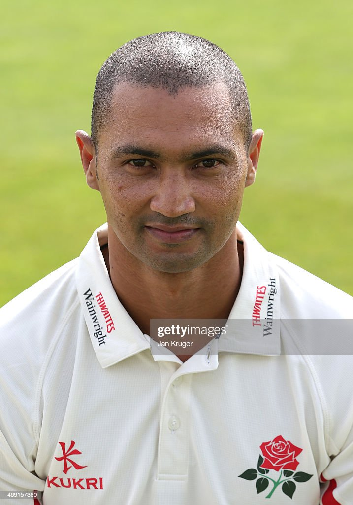 Alvero Petersen poses during the Lancashire CCC Photocall at Old Trafford on April 10, 2015 in Manchester, England.