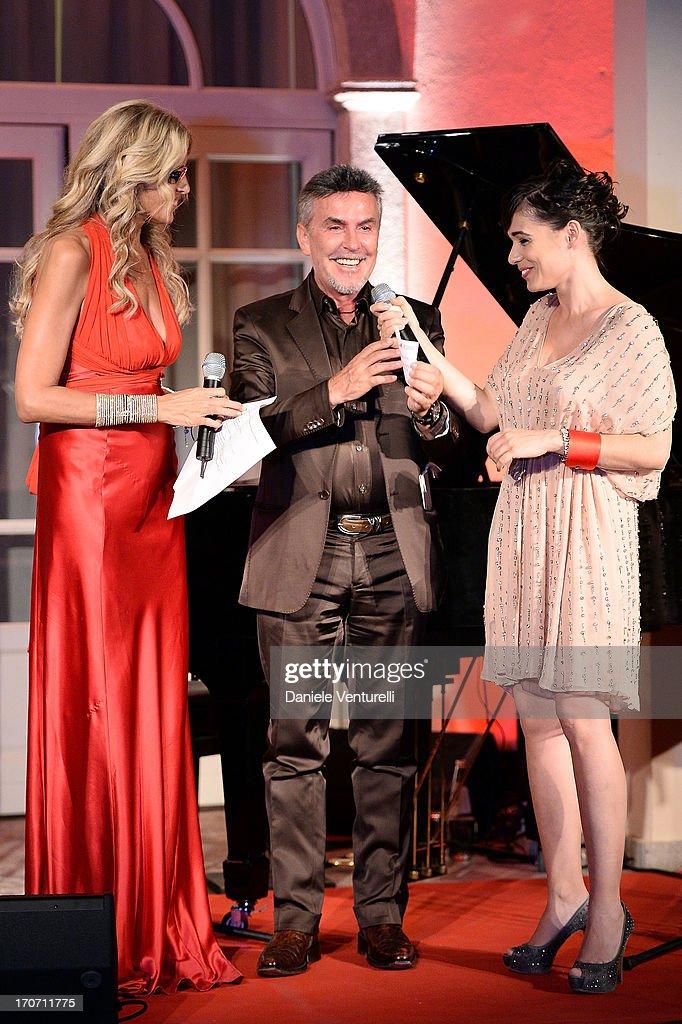 Alviero Martini, Diane Fleri and Tiziana Rocca attend Taormina Filmfest and Prince Albert II Of Monaco Foundation Gala Dinner at on June 16, 2013 in Taormina, Italy.
