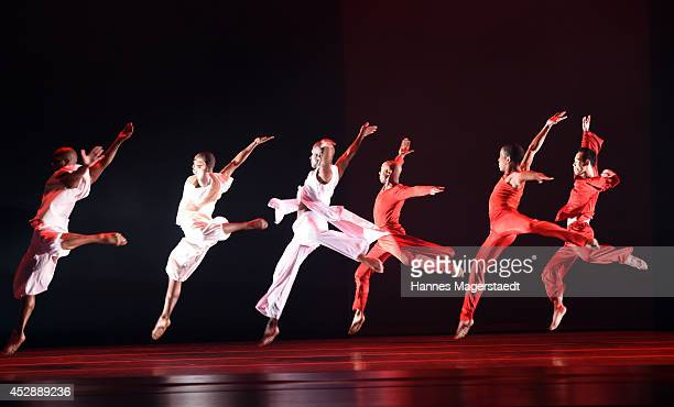 Alvin Ailey American Dance Theater perform at the Deutsches Theater on July 29 2014 in Munich Germany