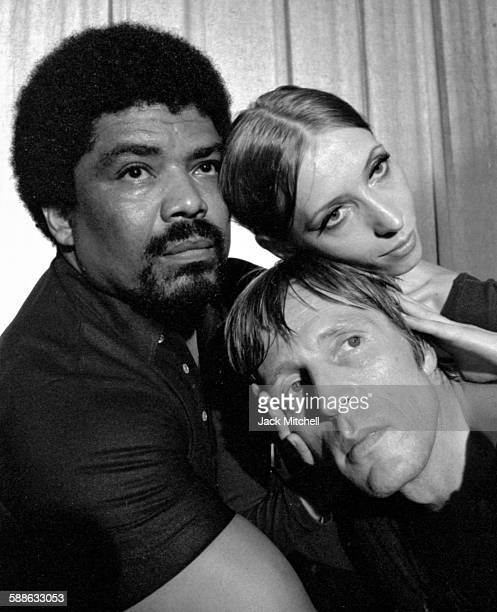 "Alvin Ailey photographed in June 1971 with ABT dancers Natalia Makarova and Erik Bruhn for his ballet ""The River"" which he based on the music of..."