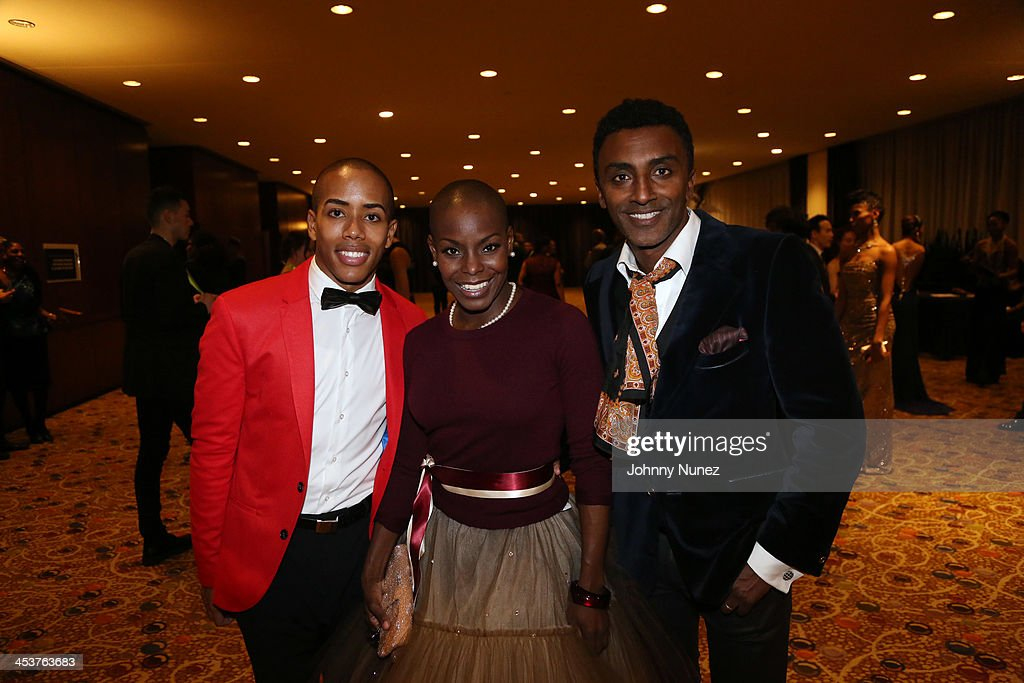 Alvin Ailey's Daniel Harder and Hope Boykin pose with chef <a gi-track='captionPersonalityLinkClicked' href=/galleries/search?phrase=Marcus+Samuelsson&family=editorial&specificpeople=2143367 ng-click='$event.stopPropagation()'>Marcus Samuelsson</a> at the 2013 Alvin Ailey American Dance Theater's opening night benefit gala at New York City Center on December 4, 2013 in New York City.