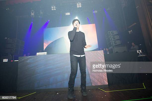 Alvin Risk performs at Girls Boys Party at Webster Hall on January 16 2014