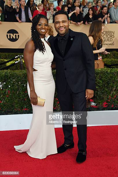 Alvina Stewart and Anthony Anderson attends the 23rd Annual Screen Actors Guild Awards at The Shrine Expo Hall on January 29 2017 in Los Angeles...