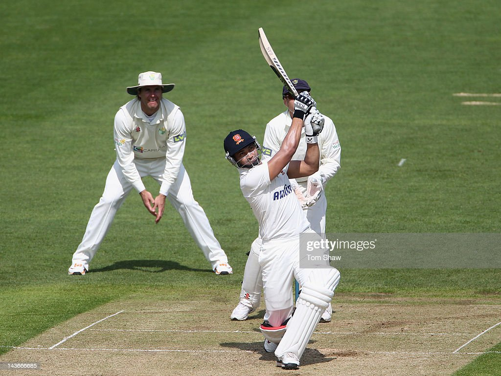 <a gi-track='captionPersonalityLinkClicked' href=/galleries/search?phrase=Alviro+Petersen&family=editorial&specificpeople=4969996 ng-click='$event.stopPropagation()'>Alviro Petersen</a> of Essex hits out during day one of the LV County Championship division one match between Glamorgan and Essex at SWALEC Stadium on May 2, 2012 in Cardiff, Wales.