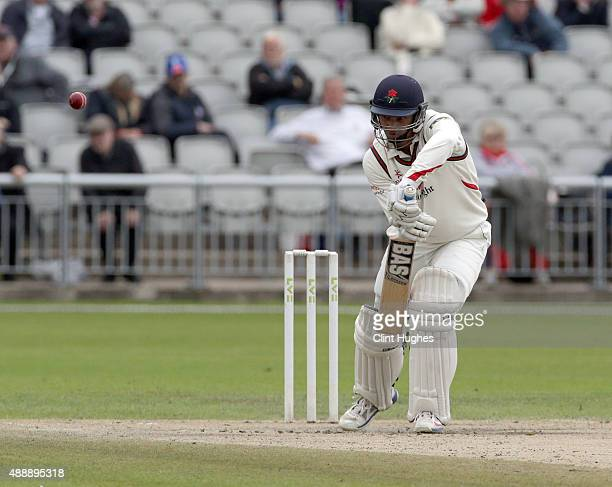 Alviro Petersen of Lancashire bats during day four of the LV County Championship Division Two match between Lancashire and Surrey at Emirates Old...