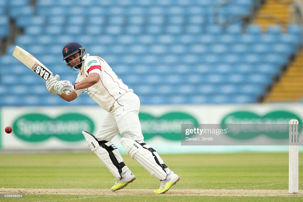 Alviro Petersen of Lancashire bats during day two of the Specsavers County Championship: Division One match between Yorkshire and Lancashire at Headingley on May 30, 2016 in Leeds, England.