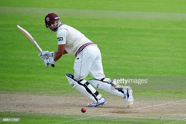 Alviro Petersen of Somerset bats during day three of the LV County Championship Division One match between Somerset and Nottinghamshire at The County...
