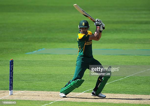Alviro Peterson of South Africa during the ICC Champions Trophy Warm Up match between South Africa and Pakistan at The Oval on June 3 2013 in London...
