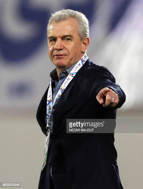 AlWahda's head coach Javier Aguirre of Spain attends the AFC Champions League group D football match between UAE's AlWahda and Saudi Arabia's AlHilal...
