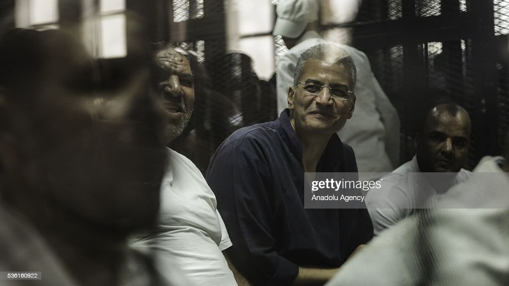 Al-Wasat party deputy chairman Essam Sultan is seen during the trials of Muslim Brotherhood members at the Police Academy in the capital Cairo, Egypt on May 31, 2016.