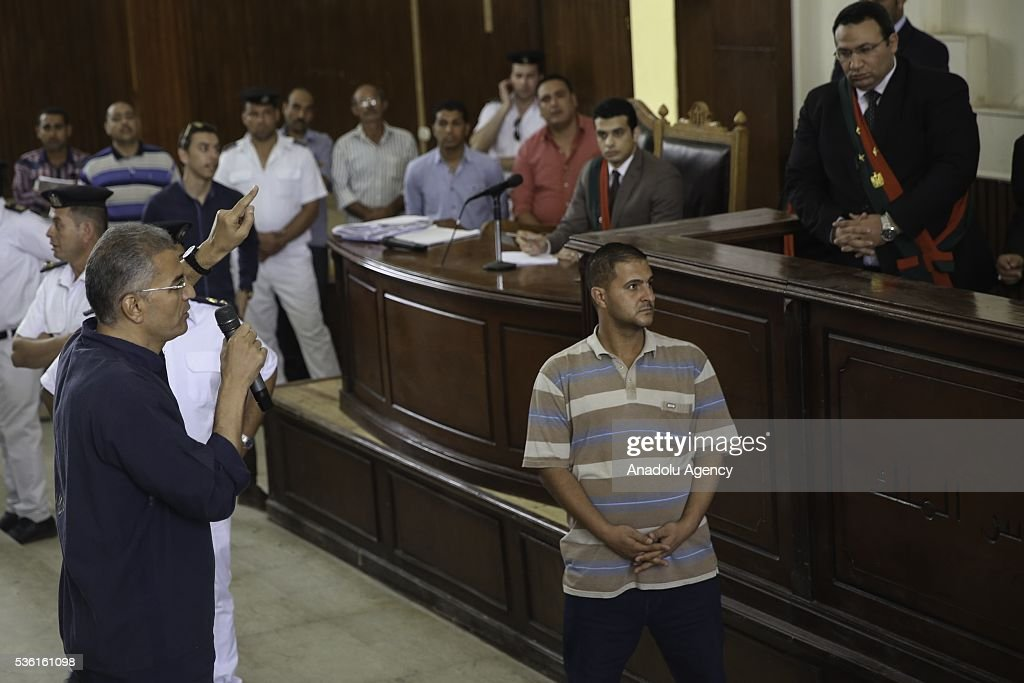 Al-Wasat party deputy chairman Essam Sultan speaks during the trials of Muslim Brotherhood members at the Police Academy in the capital Cairo, Egypt on May 31, 2016.