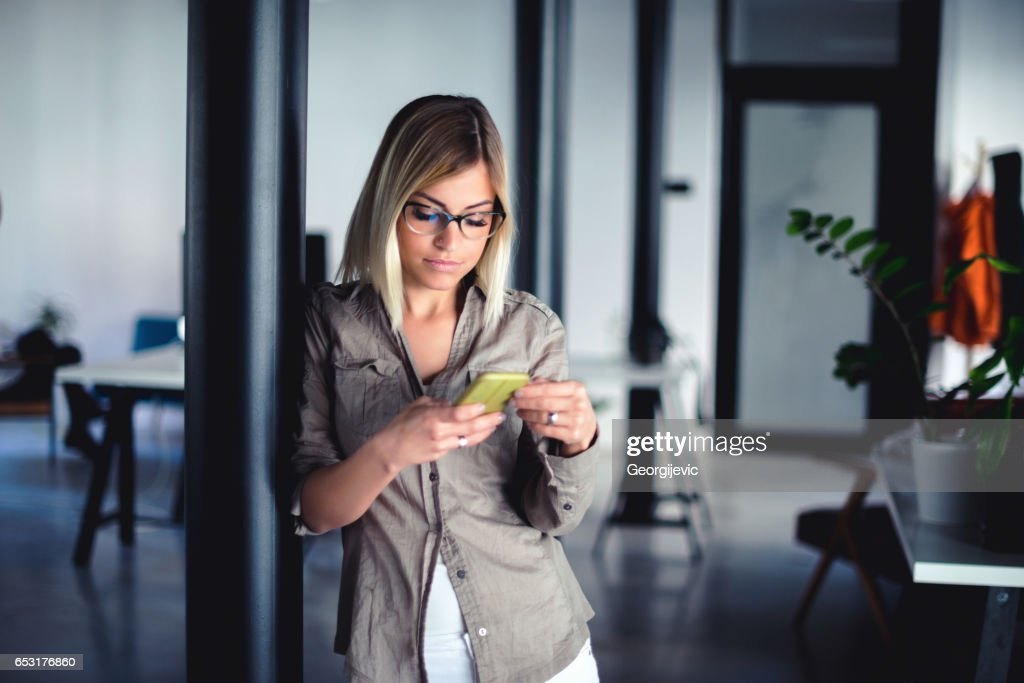 Always available for work : Stock Photo