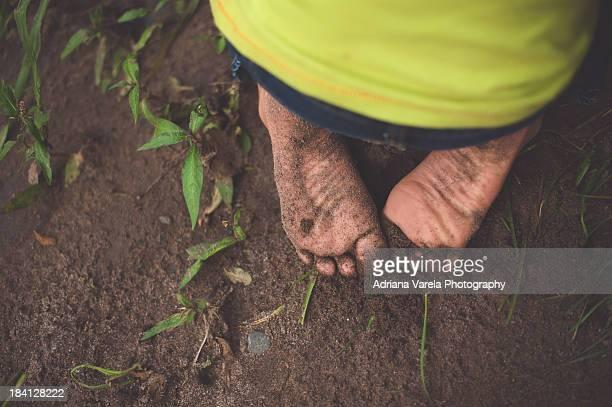 Always barefoot