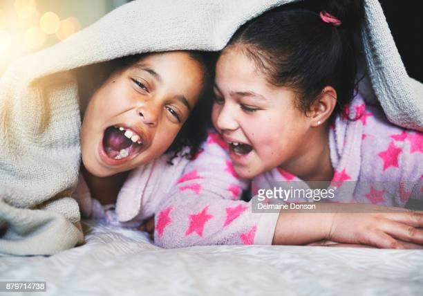 Immer am Lachen zusammen