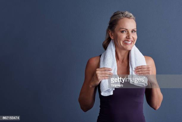 I always work out with a towel
