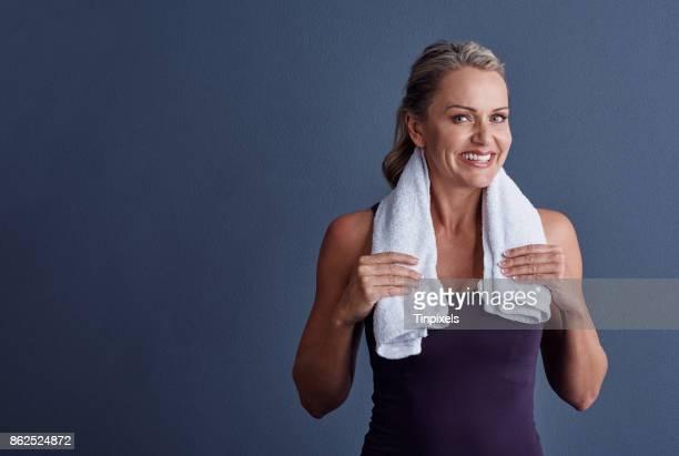 Ich arbeite immer mit einem Handtuch