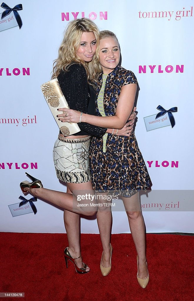 Aly and AJ arrive at the NYLON Magazine Annual May Young Hollywood Issue party held at the Hollywood Roosevelt Hotel on May 9, 2012 in Hollywood, California.