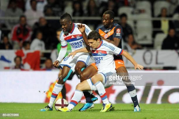 Aly CISSOKHO Jeremy PIED John UTAKA Lyon / Montpellier 4eme journee de Ligue 1