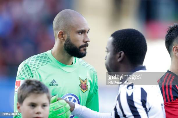 Aly Keita goalkeeper of Oestersunds FK during the UEFA Europa League Qualifying PlayOffs round second leg match between Oestersunds FK and PAOK...