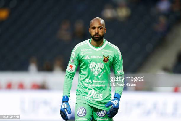 Aly Keita goalkeeper of Ostersunds FK during the Allsvenskan match between AIK and Ostersunds FK at Friends arena on July 2 2017 in Solna Sweden