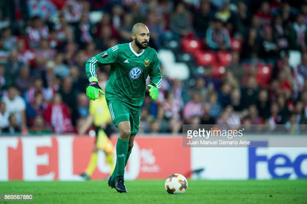 Aly Keita of Ostersunds FK in action during the UEFA Europa League group J match between Athletic Bilbao and Ostersunds FK at San Mames Stadium on...