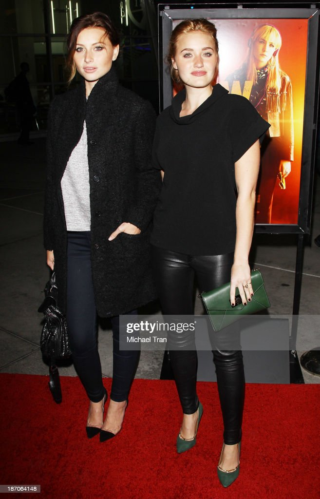 Aly Michalka and AJ Michalka arrive at the Los Angeles premiere of 'How I Live Now' held at ArcLight Hollywood on November 5 2013 in Hollywood...
