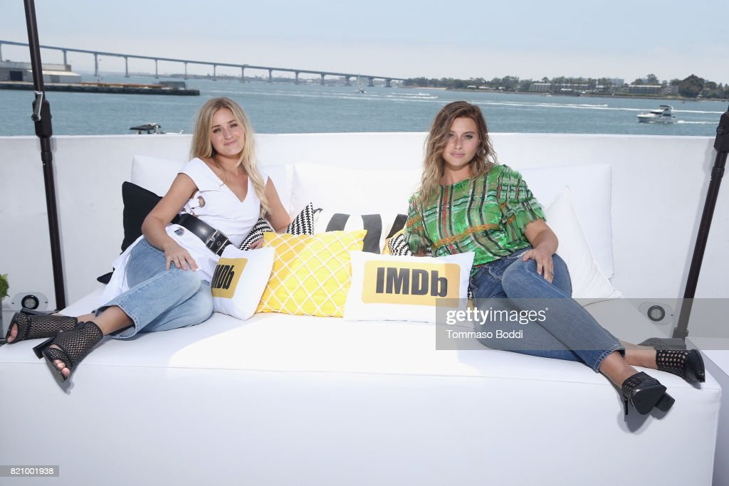 Aly Michalka and AJ Michalka of Aly & AJ on the #IMDboat at San Diego Comic-Con 2017 at The IMDb Yacht on July 22, 2017 in San Diego, California.