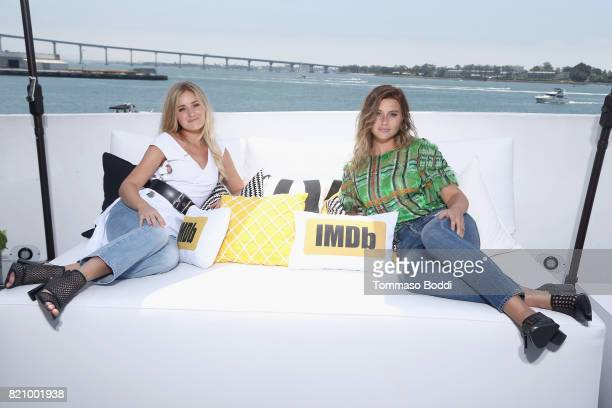 Aly Michalka and AJ Michalka of Aly AJ on the #IMDboat at San Diego ComicCon 2017 at The IMDb Yacht on July 22 2017 in San Diego California