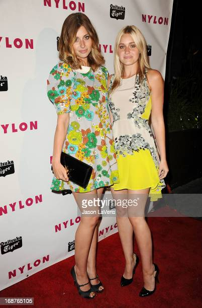 Aly Michalka and Amanda 'AJ' Michalka attend Nylon Magazine's Young Hollywood issue event at The Roosevelt Hotel on May 14 2013 in Hollywood...