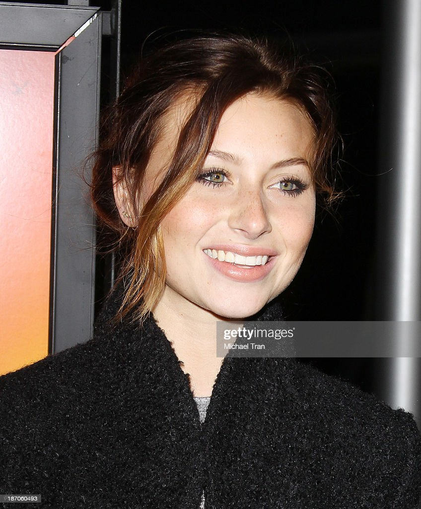 Aly Michalka arrives at the Los Angeles premiere of 'How I Live Now' held at ArcLight Hollywood on November 5 2013 in Hollywood California